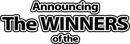 Announcing The WINNERS of the